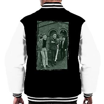 The Smiths In Manchester At Salford Lads Club Distressed Frame Men's Varsity Jacket