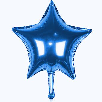 TRIXES 5 x Blue Star 45 cm Helium Metallic Balloon for Party Celebration