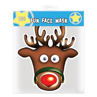 Rudolph The Red Nosed Reindeer Christmas Party Card Fancy Dress Mask