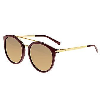 Sixty One Moreno Polarized Sunglasses - Burgandy/Gold