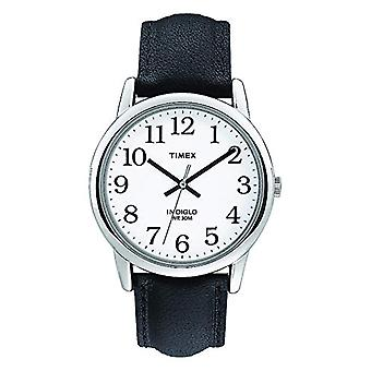 T20501 تيميكس ساعة اليد للرجل، والجلود، وفضي/أسود