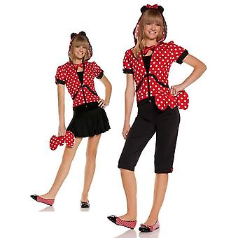 Costume Teen souris rouge