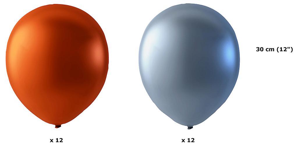 24-pack Koppar Metallic och Silver Metallic- 30 cm (12