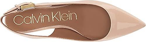 Calvin Klein Womens Luka Leather Pointed Toe SlingBack Classic Pumps
