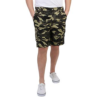 KRISP  Mens Camouflage Cargo Casual Shorts Combat Army Work Cropped Cotton Pants Summer