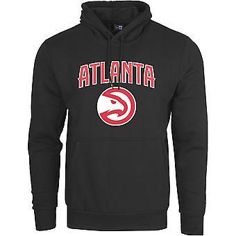 New Era Fleece Hoody - NBA Atlanta Hawks schwarz