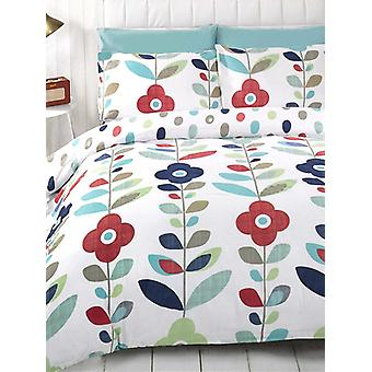 Lulu Floral Reversible Duvet Cover and Pillowcase Set