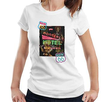 Route 66 Neon Motel Poster Women's T-Shirt