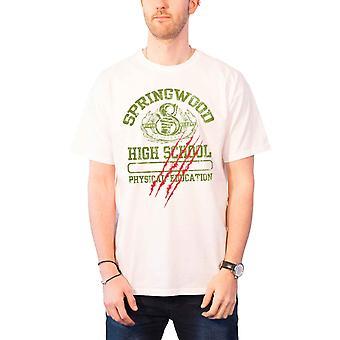 Nightmare On Elm Street T Shirt Springwood High School new Official Mens White