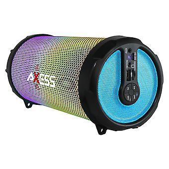 Axess Vibrant Plus Portable Hi-Fi Bluetooth Speaker with Disco LED Lights - Blue