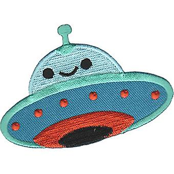 Patch - C&D - Aliens Flying Saucer UFO Iron-On New Gifts Toys p-4511