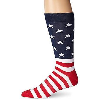Mannen crew sokken-K Bell-mannen Amerikaanse vlag