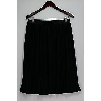 Dennis Basso Skirt Below the Knee Pleated Noir Black A301470