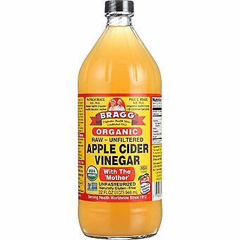 Vinagre de sidra de manzana cruda orgánica de Bragg