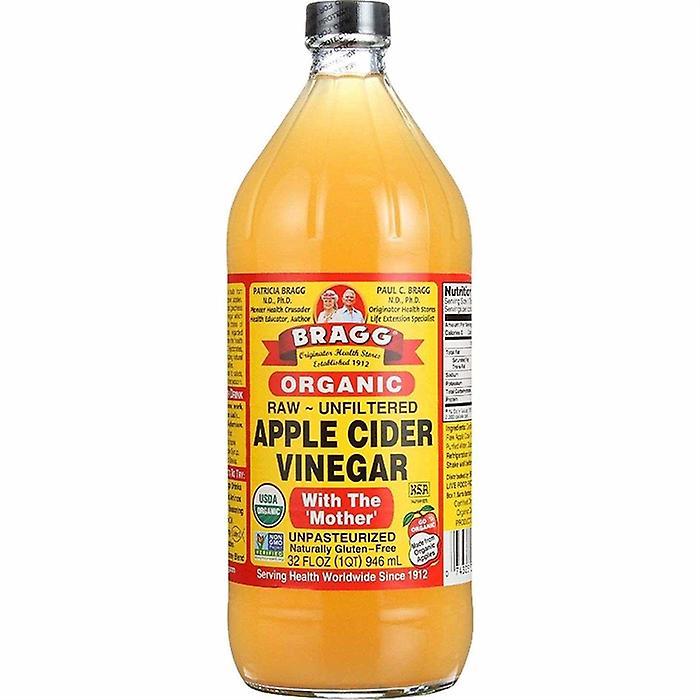 Vinagre de cidra de maçã orgânico cru de Bragg
