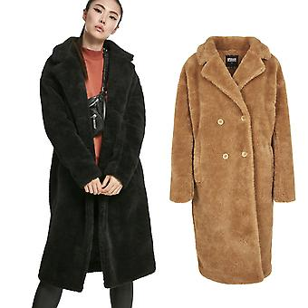 Urban Classics Ladies - OVERSIZED TEDDY Sherpa Coat
