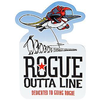 Rogue Ale Outta Linie Aufkleber