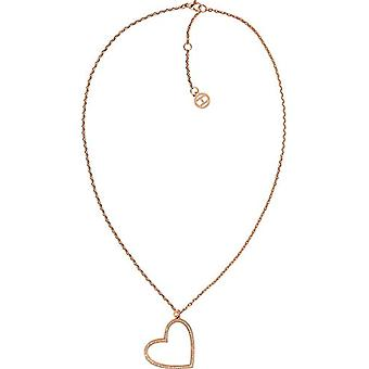 Tommy Hilfiger kvinna steel_stainless halsband med hänge 2780116