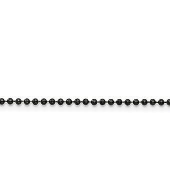 In acciaio inox lucido nero-placcato IP fantasia chiusura aragosta 2,0 mm placcato nero palla collana a catena - lunghezza: 18-30