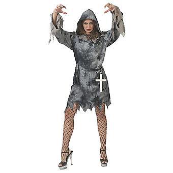Demon Women's Costume Greydevil Robe Hooded Dress Halloween Carnival Horror Costume Ladies