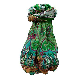 Moerbei zijde traditionele lange sjaal Shalmali Emerald door Pashmina & Silk