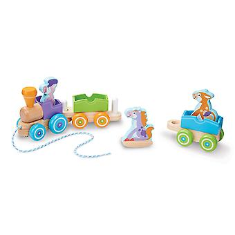 Melissa & Doug Rocking Farm Animals First Play Wooden Pull Train
