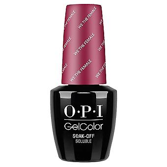 OPI GelColor Gel Color - Soak Off Gel Polish - We The Female 15ml (GC W64)