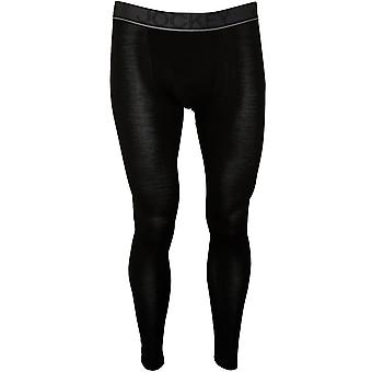 Jockey Merino Wool Stretch Long Johns, Nero