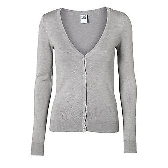 Vero Moda Glory New LS V-Neck Cardigan Gris 35