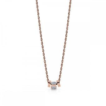 Guess Jewellery Guess Rose Gold Chain Necklace With 3 Crystal Beads UBN78093