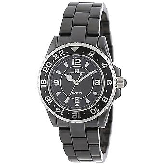 Oceanaut Women-apos;s Ceramic Black Dial Watch - CN1C2601