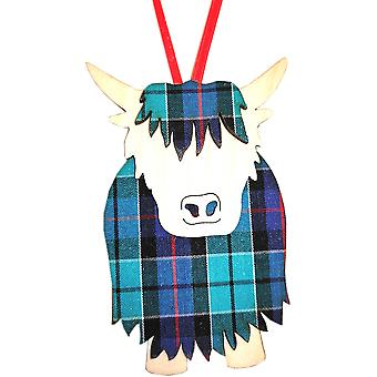 Hamish Highland Cow Highland Check par Art Cuts