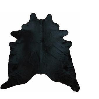 1.8 מטר שטיח עור פרה שחור טבעי