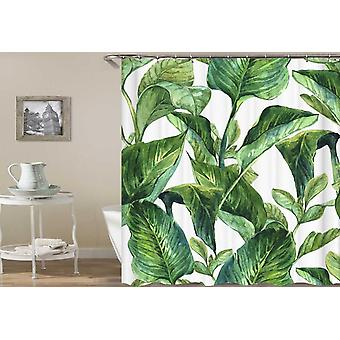 Bird Of Paradise Fresh Leaves Shower Curtain