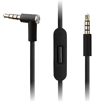 REYTID Replacement Black Audio Cable Compatible with Beats by Dr Dre Solo2 / Solo2 Wireless Headphones with Inline Remote, Volume Control and Microphone - Compatible with iPhone & Android