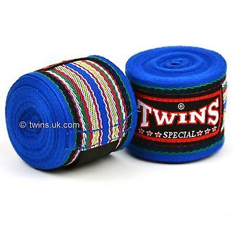 Twins CH-2 Premium Cotton Hand Wraps Blue
