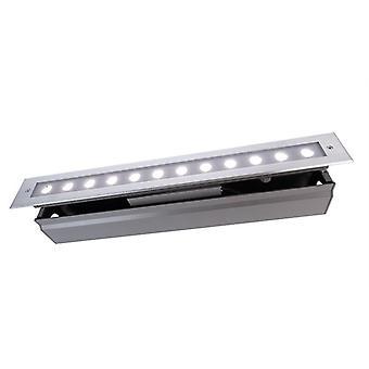 Lampa podłogowa LED wpuszczona linia V CW 16W 6500 K 20° 549 mm srebrny IP67