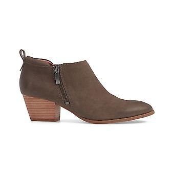Franco Sarto Womens granite Leather Almond Toe Ankle Fashion Boots