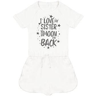I Love My Sister To The Moon And Back Baby Playsuit
