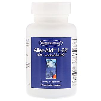 Aller-Aid L-92 with L. Acidophilus L-92 60 Vegetarian Capsules - Allergy Research Group