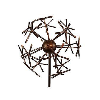 Garden Pride Copper Dandelion Decorative Stake