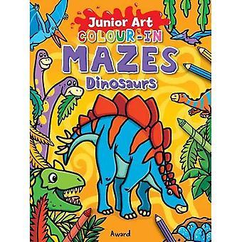 Färg-i labyrinter dinosaurier (Junior konst)