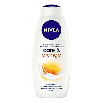 Douchegel verzorging & Orange Nivea (750 ml)