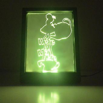 Alice in Wonderland gal her farge endre RC LED speil lett ramme