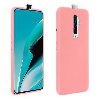 Oppo Reno 2Z Silicone Semi-rígida Case, Soft Touch Matte Finish - Pink