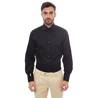 Men's Black Billionaire Long Sleeve Shirts