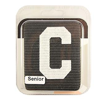 Captains Armband Big C Style Black Junior