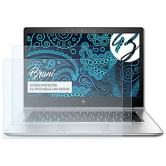 بروني 2x شاشة حامي متوافق مع HP EliteBook x360 1030 G2 فيلم واقية
