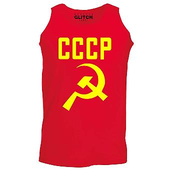 Reality glitch cccp hammer and sickle mens vest