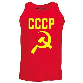 Reality glitch cccp hamer en sikkel mens vest